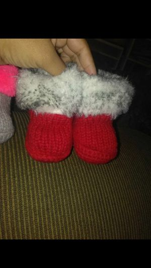 Baby Boots, knitted slippers, stockings, infant Nike shoes for Sale in Los Angeles, CA