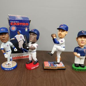 4 Chicago Cubs Bobbleheads Figures for Sale in Romeoville, IL