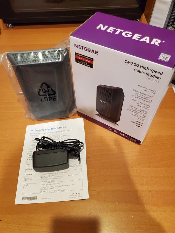 NETGEAR CM700 DOCSIS 3.0 Gigabit Cable Modem High Speed Up To 1.4Gbps
