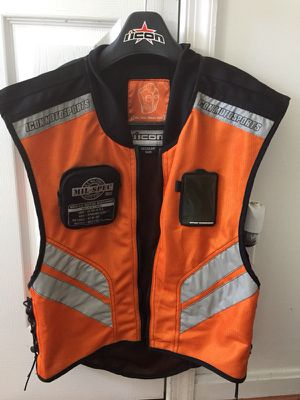 Icon reflective motorcycle vest for Sale in Pasadena, MD