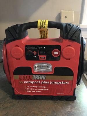 Motor trend car battery starter and compressor for Sale in Pawtucket, RI