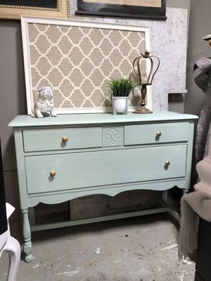 Mint green and gold vanity for Sale in Battle Ground, WA