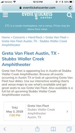 Greta Van Fleet Concert Tickets (SOLD OUT!) for Sale in Temple,  TX