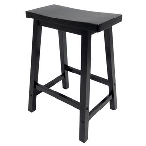 "B132 Wood Seat Bar Stool 29"". Black for Sale in Austin, TX"
