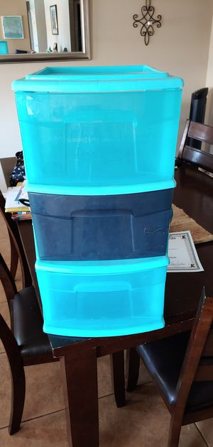 3 Drawer plastic bins for Sale in Chandler, AZ
