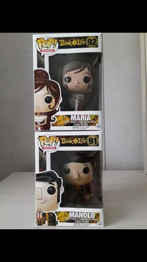 Great gift Funko POP Movies Action Figure: Book of Life - Maria And Manolo $14 for each for Sale in Kissimmee, FL