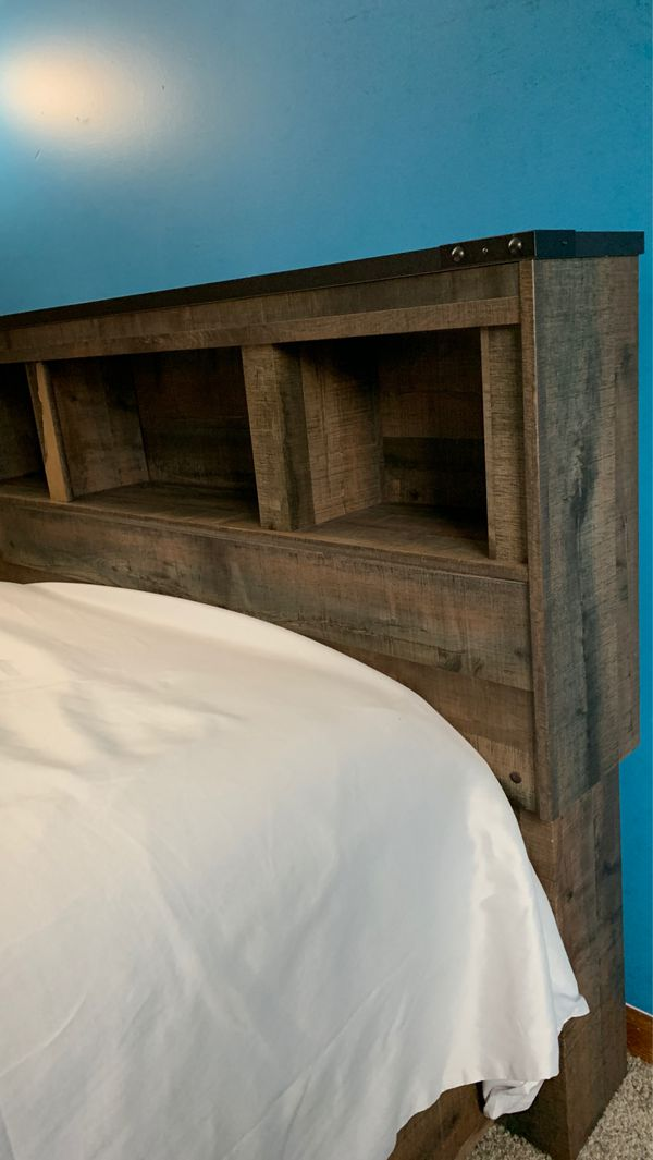 Full size bed frame and chest