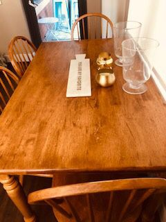 AnPrice Reduction Antique Dinning Room / Breakfast Room Farm Table and Chairs