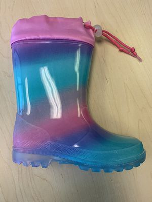Rain boots for little girls sizes 11, 12, 13, 1, 2, 3, 4 kids sizes for Sale in Bell Gardens, CA