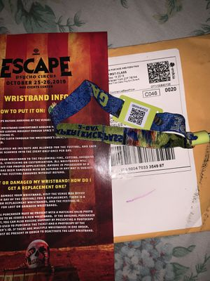 ESCAPE TICKET for Sale in Los Angeles, CA