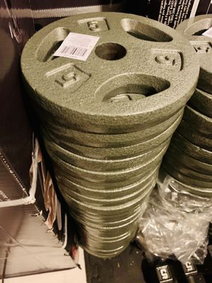 5 lb standard weight plates $10 each for Sale in Davie, FL