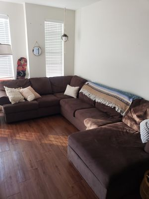 Large, 3-piece sectional couch for Sale in Boulder, CO
