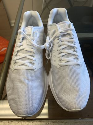 NIKE Downshifter 7 Men's Running Shoes 852459 100 White NWD for Sale in Miami, FL