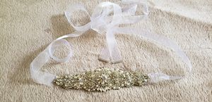 Beaded belt for wedding dress for Sale in St. Charles, IL