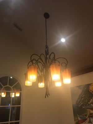 chandelier light fixture ornate for Sale in CASTLE SHANN, PA