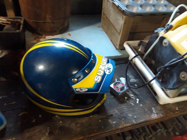 Vintage dirt bike helmet