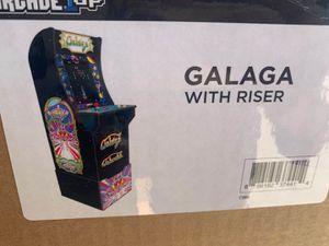Brandnew Arcade1Up Galaga Arcade Cabinet with Custom Riser for Sale in Arcadia, CA