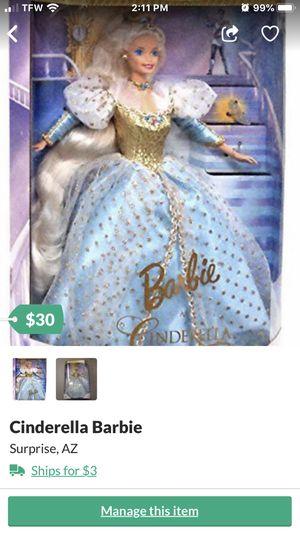 Cinderella Barbie for Sale in Sun City, AZ