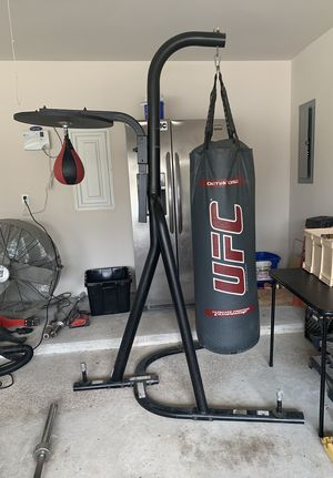 Heavy Punching Bag with Stand and Speed Bag for Sale in Tomball, TX