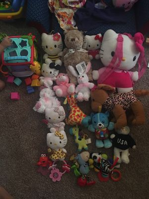 Random baby girl toys and stuffed animals for Sale in Austell, GA