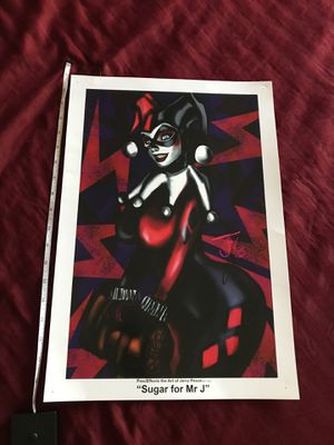 Harley Quinn poster from SA Comic Con for Sale in Austin, TX