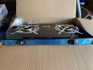 New! Barton brand two burner stove with black tempered glass propane use. for Sale in Phelan, CA
