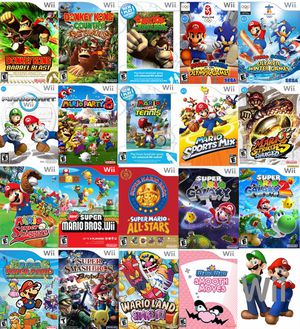 Nintendo WII + 30 Games WII SPORTS , MARIO KART , MARIO PARTY , MARIO GALAXY , ZELDA , DONKEY KONG and More for Sale in San Diego, CA