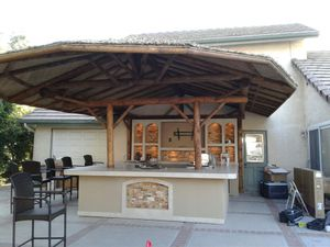 Bbq Island with the accessories and Palapa barbecue grill for Sale in Riverside, CA