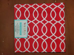 Red and white 100% cotton fabric for Sale in Dixon, MO