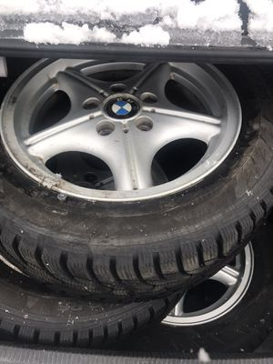 Bmw rims with snow tires for Sale in Parma, OH