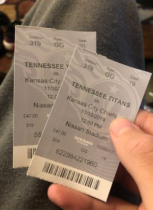 Tennessee football tickets this Sunday for Sale in Clarksville, TN