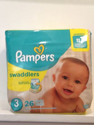 Pampers swaddlers diapers at discount price all sizes for Sale in Annapolis, MD