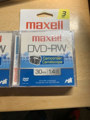 2 Maxell DVD-RW DISC 30 min for Sale in Hawthorne, CA