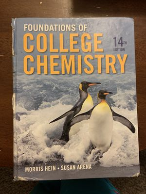 Foundations of College Chemistry 14th edition for Sale in San Diego, CA