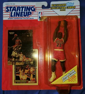 MICHAEL JORDAN STARTING LINEUP FIGURE FIRM ON PRICE OR TRADE FOR A FULL FRESH-WATER TACKLE BOX for Sale in Pico Rivera, CA