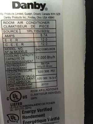 Danby window air conditioner unit for Sale in Washington, DC