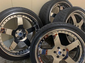 "ASANTI 20"" 5X108 STAGGERED TRUE 3PIECE WHEELS & NITTO NT555 TIRES for Sale in Lake Worth,  FL"