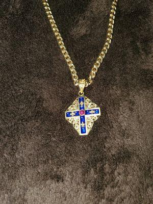 Italian 18kt. Cuban Link Chain & Medallion for Sale in Covina, CA