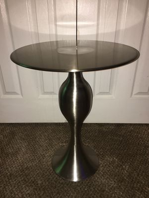 Brushed Metal End Table for Sale in Broken Arrow, OK