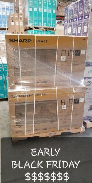 55 inch tv 4k smart 1 year warranty $39 down for Sale in Montclair, CA