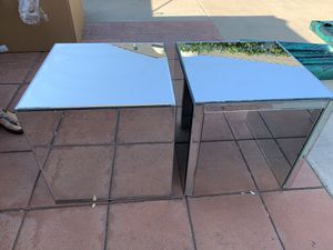 Two mirrored nightstands for Sale in Fresno, CA