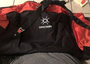 Samstrong 120 Liter Travel Duffle Bag Lightweight Large Capacity Luggage Duffel Bag Waterproof and Tear Resistant Overnight Weekender Bag, Red for Sale in North Las Vegas, NV