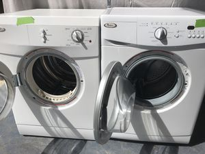 220v Frontloading Whirlpool Stackable washer Dryer Combo for Sale in Denver, CO