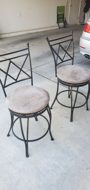 Cast iron two bar stools for Sale in Sanger, CA