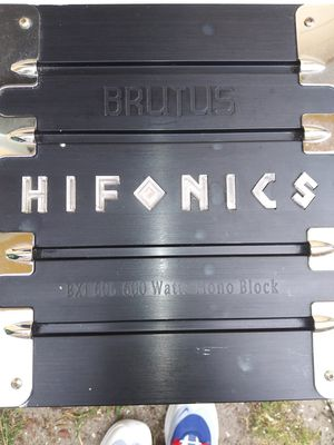 Hifonics Brutus 600 watt monoblock for Sale in St. Petersburg, FL