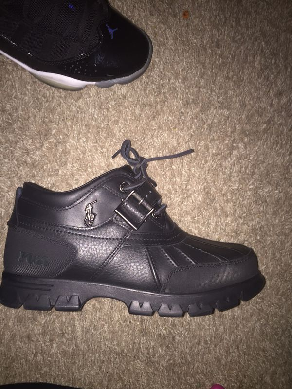 Black polo boots 9.5
