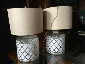 Decorative Barrel Lamps /w shades Brand new never used for Sale in Miramar, FL
