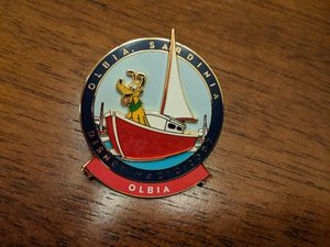 Disney Cruise line pin Disney Magic 2007 Mediterranean cruise Olbia Sardinia Pluto in a sailboat for Sale in Glendale, AZ
