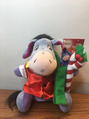 Eeyore Christmas Plush 2002 Musical Dancer Disney Store Exclusive With Tag for Sale in Elgin, IL