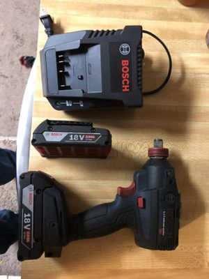 """Bosch 1/2"""" brushless 18v impact wrench ( very light ) Variable speed with (2) batt and charger 140 for Sale in Lakeland, FL"""